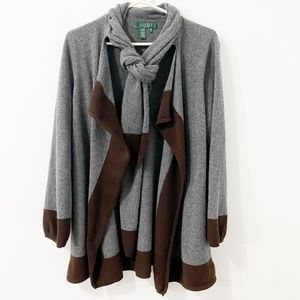 Ralph Lauren Cardigan with attached Scarf
